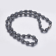 Non-magnetic Synthetic Hematite Mala Beads Necklaces(NJEW-K096-10A)-1