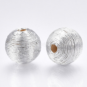 12mm Silver Round Polyester Beads