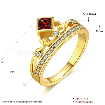 Red Brass+Cubic Zirconia Finger Rings