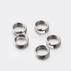 304 bagues fendues en acier inoxydable, couleur inox, 5x1 mm; environ le diamètre intérieur 4 mm(STAS-E075-13)