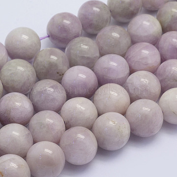 Natural Kunzite Beads Strands, Spodumene Beads, Round, Grade AB, 12mm, Hole: 1mm; about 32pcs/strand, 15.7inches(40cm)(G-L478-11-12mm)