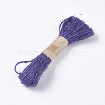 Jute Cord, Jute String, Jute Twine, for Jewelry Making, Indigo, 1.5~2mm, about 10.93 yards(10m)/bundle(OCOR-WH0037-02D)
