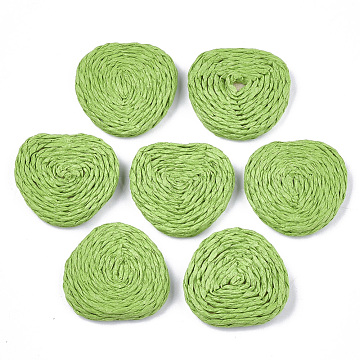 32mm LimeGreen Triangle Paper Beads