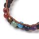 Natural Lava Cord Beaded Bracelets(BJEW-E351-02I)-4