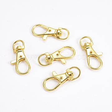 Zinc Alloy Swivel Lobster Claw Clasps, Swivel Snap Hook, Golden, 35x16.5x6mm, Hole: 8.5x5mm(PALLOY-WH0011-01G)