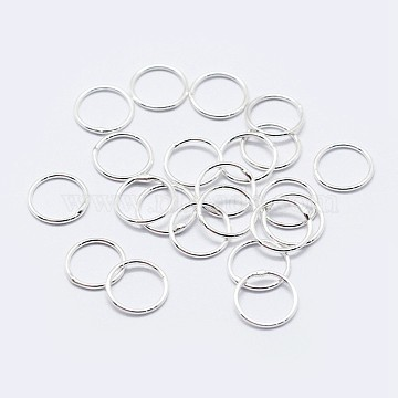 925 Sterling Silver Round Rings, Soldered Jump Rings, Silver, 5x0.5mm; Inner Diameter: 4mm(STER-F036-03S-0.5x5)