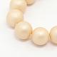 круглый перлы раковины матовые бусины нити(BSHE-I002-10mm-13)-2