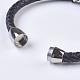 Men's Braided Leather Cord Bracelets(BJEW-P194-03)-2