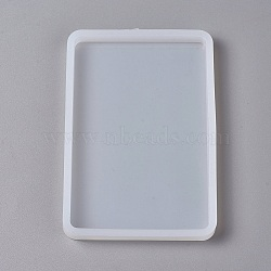 DIY Silicone Molds, Resin Casting Molds, Clay Craft Mold Tools, Rectangle, White, 126x86x10mm