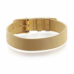 """Bandes de montre en laiton, or, 8-1/4"""" (21cm) ~ 9"""" (23cm), 12mm(KK-N192-01G)"""