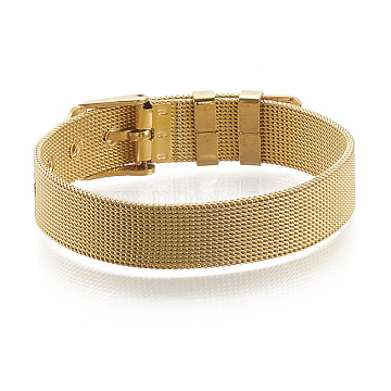 Brass Watch Bands, Golden, 8-1/4inches(21cm)~9inches(23cm), 12mm(KK-N192-01G)