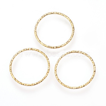 Brass Linking Rings, Soldered, Nickel Free, Real 18K Gold Plated, 40mm(X-KK-R058-200)