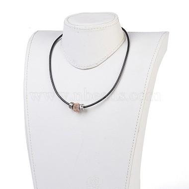 Resin Rhinestone European Beaded Necklaces(NJEW-JN02236-05)-3