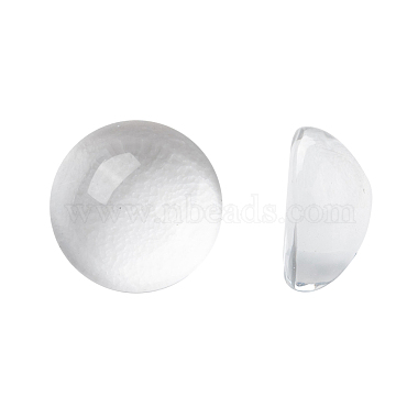 8mm Clear Half Round Glass Cabochons