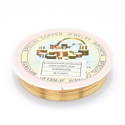 Environmental Copper Jewelry Wire, Long-Lasting Plated, 24 Gauge, 0.5mm, 6.5m/roll(X-CWIR-P001-01-0.5mm)