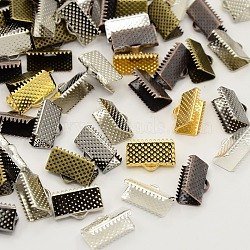 extrémités du ruban de fer mixte, sans nickel, couleur mélangée, 7x13 mm, trou: 2 mm(E005Y-M)