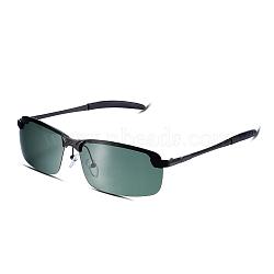 солнцезащитные очки идеального дизайна, черные рамки из нержавеющей стали и линза tac, зеленый, 14.6x4 cm(SG-BB19166-4)