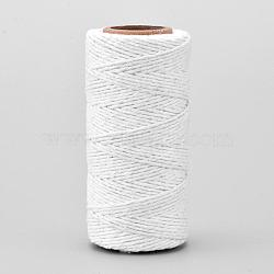 Cotton String Threads for Jewelry Making, Macrame Cord, WhiteSmoke, 1.5mm; about 70m/roll(OCOR-L039-B01)