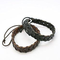bracelets en cuir, couleur mélangée, 64 mm(BJEW-C387-M)