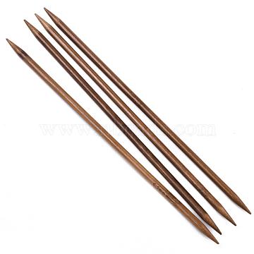Bamboo Double Pointed Knitting Needles(DPNS), Peru, 250x6.5mm; 4pcs/bag(TOOL-R047-6.5mm-03)