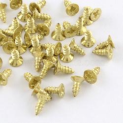 Железная фурнитура винта, золотые, 5x4 мм, контактный: 2 мм; около 4800 шт / 500 г(IFIN-R203-34G)