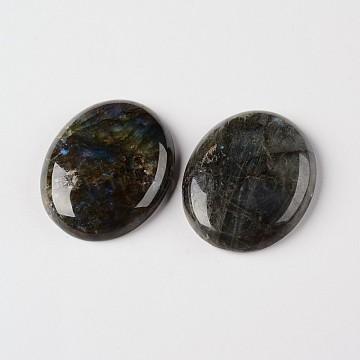 Natural Labradorite Gemstone Oval Cabochons, Grade AB, 18x13x5mm(X-G-J329-01-13x18mm)