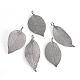 Electroplated Natural Leaf Big Pendants(X-IFIN-Q119-03B)-1