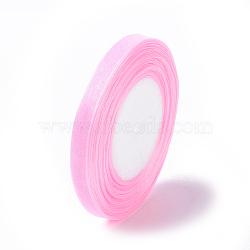 "Matériaux de fabrication ruban organza ruban de conscience de cancer du sein rose , rose, environ 3/8"" (10mm) de large, 25yards / roll (22.86m / roll)(X-RS10mmY004)"