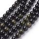 Natural Golden Sheen Obsidian Beads Strands(G-C076-8mm-5)-1