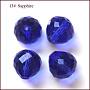 Imitation Austrian Crystal Beads, Grade AAA, Faceted, Teardrop, Blue, 6mm, Hole: 0.7~0.9mm