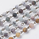Natural/Synthetic Gemstone Beaded Chains(AJEW-JB00402)-1