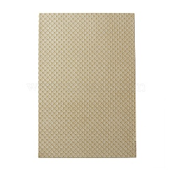 Imitation Leather Fabric, for Garment Accessories, Cross Pattern, DarkKhaki, 30x20x0.1cm(DIY-L029-C01)