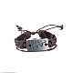 Unisex Trendy Leather Cord Bracelets(BJEW-BB15581-B)-1