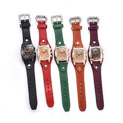 """Наручные часы высокого качества, кварцевые часы, Голова из сплава, разноцветные, 9-1/2""""~9-7/8"""" (24.1~25.1 см); 19~20x3 мм; смотреть голову: 38x38x16 мм(WACH-I017-10)"""
