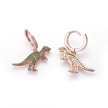 Green Brass Earrings