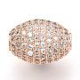 16mm Clair Ovale Laiton + Zircon Cubique Perles(ZIRC-Q013-128RG)