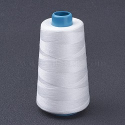 Cotton Thread, White, 0.28mm; about 1600m/roll(X-OCOR-WH0001-18)