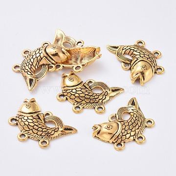 Antique Golden Fish Alloy Links
