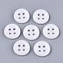 White Lampwork Button(X-BUTT-T010-01O)