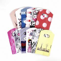 Sacs en plastique, couleur mixte, environ9 cm de large, 15 cm de long(OPP001Y)