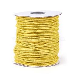 Cordon de polyester, jaune, 2.5 mm; 50 yards / rouleau (150 pieds / rouleau)(OCOR-E017-01B-05)