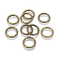 Anneaux de liaison en plastique CCB, anneau, bronze antique, 24x4mm, environ 18 mm de diamètre intérieur(CCB-G006-138AB)