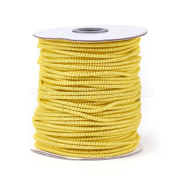 2.5mm Yellow Polyester+Metallic Cord Thread & Cord