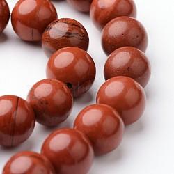 """Brins ronds de perles de jaspe rouge naturel, 8mm, trou: 1mm; environ 47~48 pcs/chapelet, 15""""(G-J346-21-8mm)"""