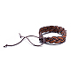 Adjustable Casual Unisex Braided Leather Bracelets(BJEW-BB15584)-3