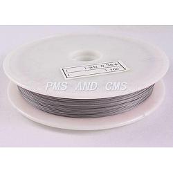 Tiger Tail Wire, Nylon-coated Steel, LightGrey, 0.5mm; 50m/roll(X-TWIR-50R0.5MM-1)