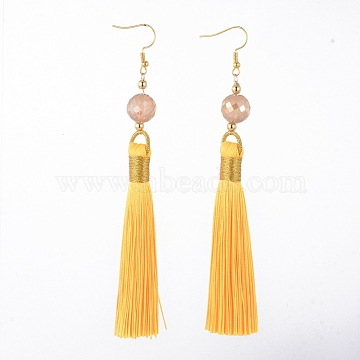 Yellow Polyester Earrings
