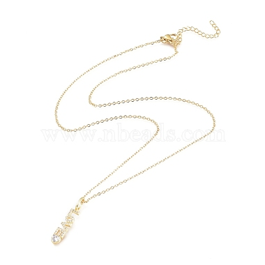 Brass Micro Pave Clear Cubic Zirconia Pendant Necklaces(X-NJEW-L146-28A-G)-2