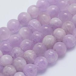 brins de perles naturelles de kunzite / spodumène, arrondir, classe a +, 6~6.5 mm, trou: 1 mm; environ 64 perle / brin, 15.5 (39.5 cm)(G-L478-14-6mm)