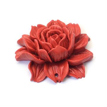 46mm FireBrick Flower Cinnabar Links